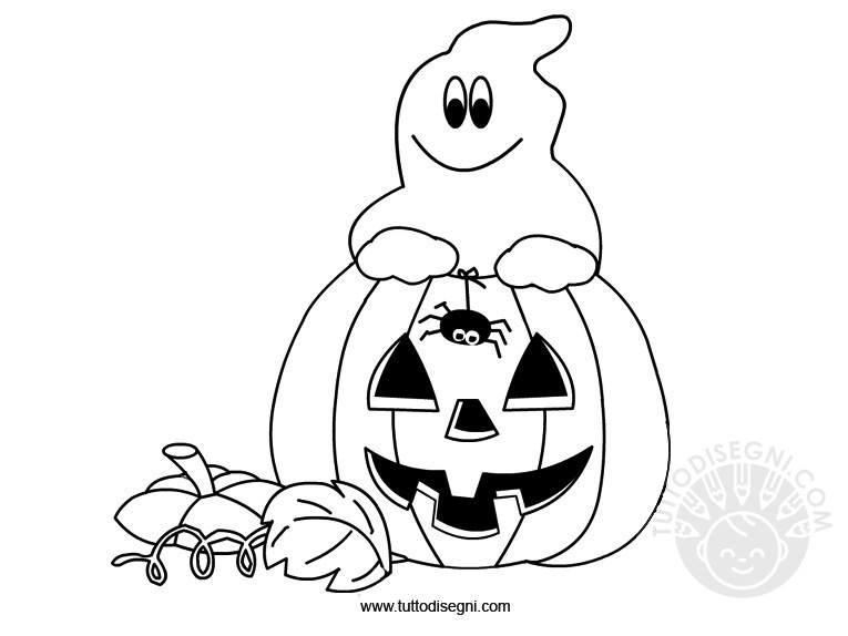 Disegni di halloween da colorare for Immagini halloween da colorare e stampare