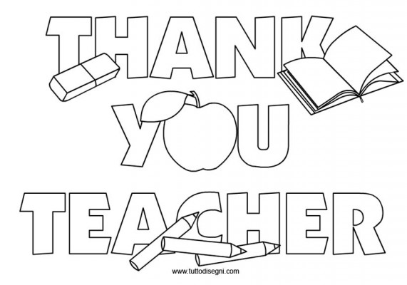 Coloring Pages For Your Teacher : Free coloring pages of thank you teacher