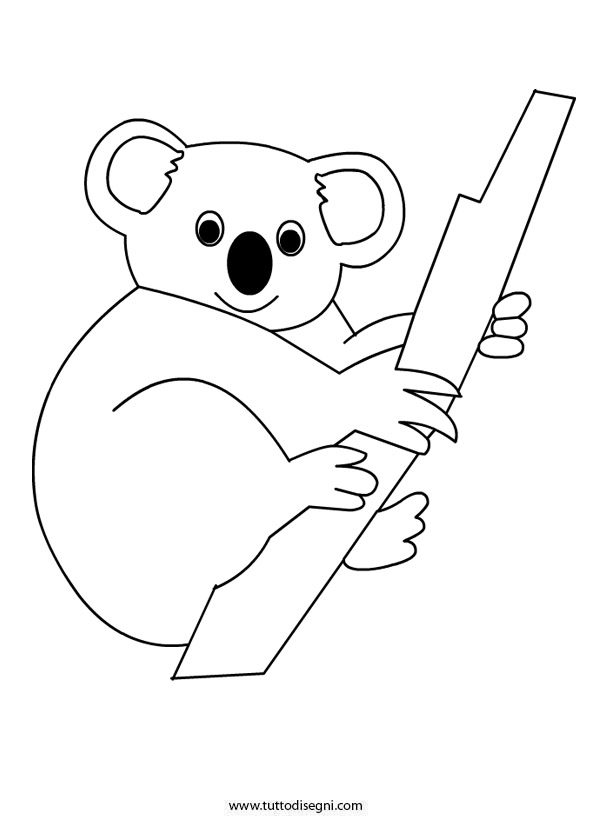 Koala da colorare for Koala coloring page