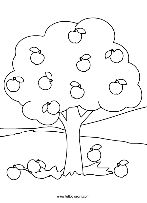Albero in estate for Disegni da colorare estate