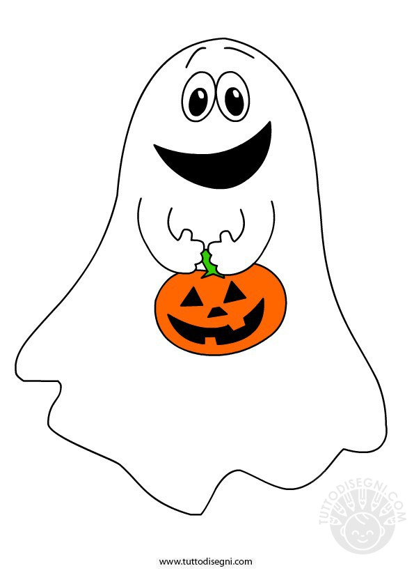 Fantasma con zucca di halloween for Disegni di halloween colorati